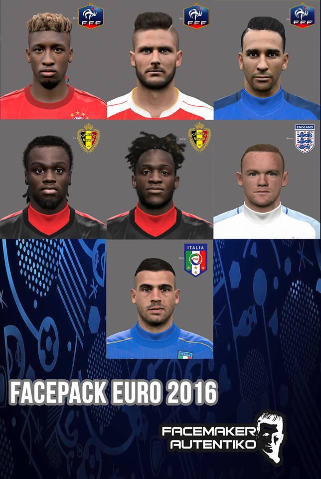 PES 2017 Facepack Eurocopa 2016 By Autentiko