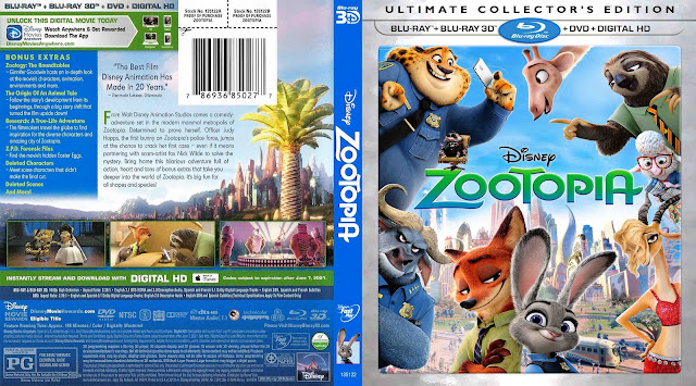 Capa Bluray Zootopia Ultimate Collectors Edition