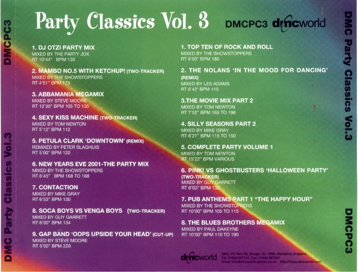 MUSIC REWIND: VA - DMC Party Classics - Vol 3 (2 Cds)