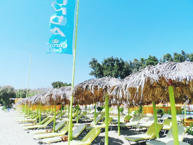 Viva Punda summer beach club umbrellas and sun beds