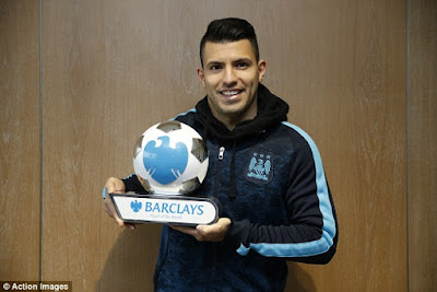 SERGIO AGUERO + PLAYER OF THE MONTH