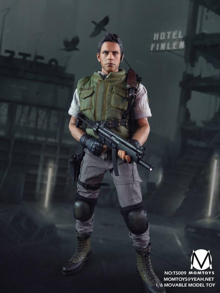 1//6 Resident Evil Chris Redfield Head Sculpt For Hot Toys PHICEN Male Figure