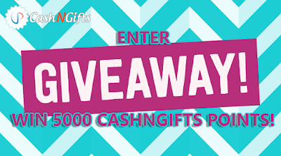 CashNGifts Giveaway of 5000 points