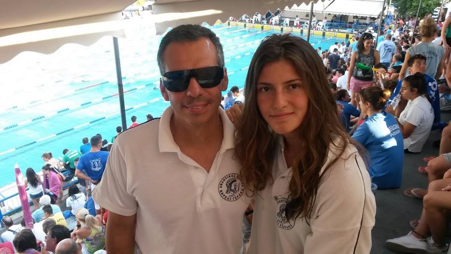 Η αθλήτρια κολύμβησης του Νηρέα Γέρακα στην Αμερική