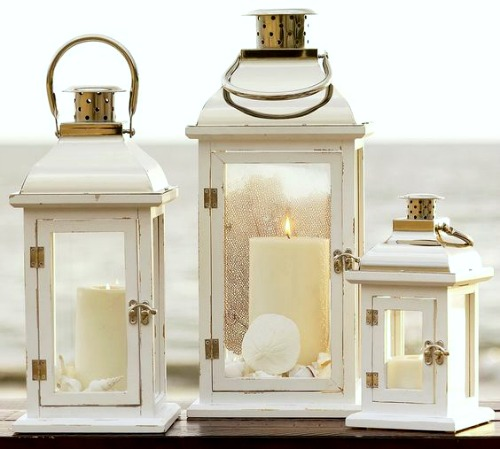 Going Coastal Pottery Barn Part I: Nautical & Coastal Candle Lanterns For Inside & Outdoors
