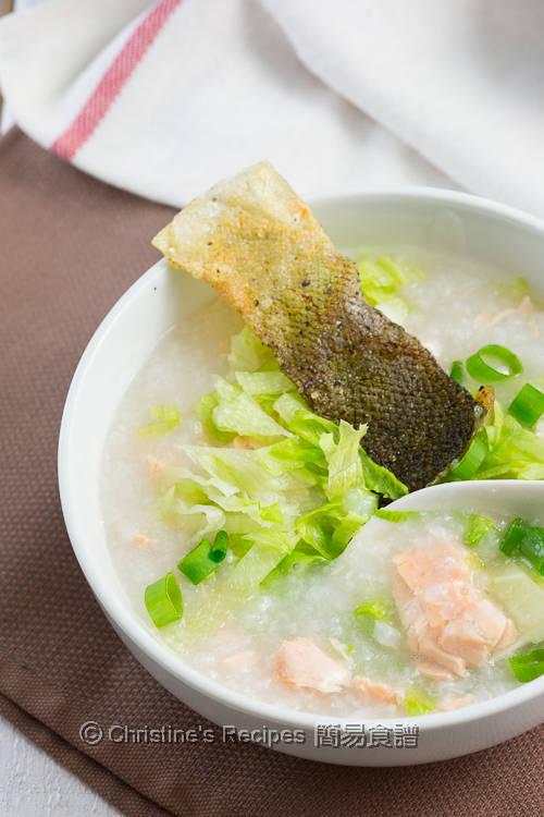 三文魚生菜粥 Salmon Lettuce Congee03
