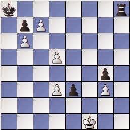 Estudio de Francesc Vivas Font, El Ajedrez Argentino 1950, posición después de 3.d5!