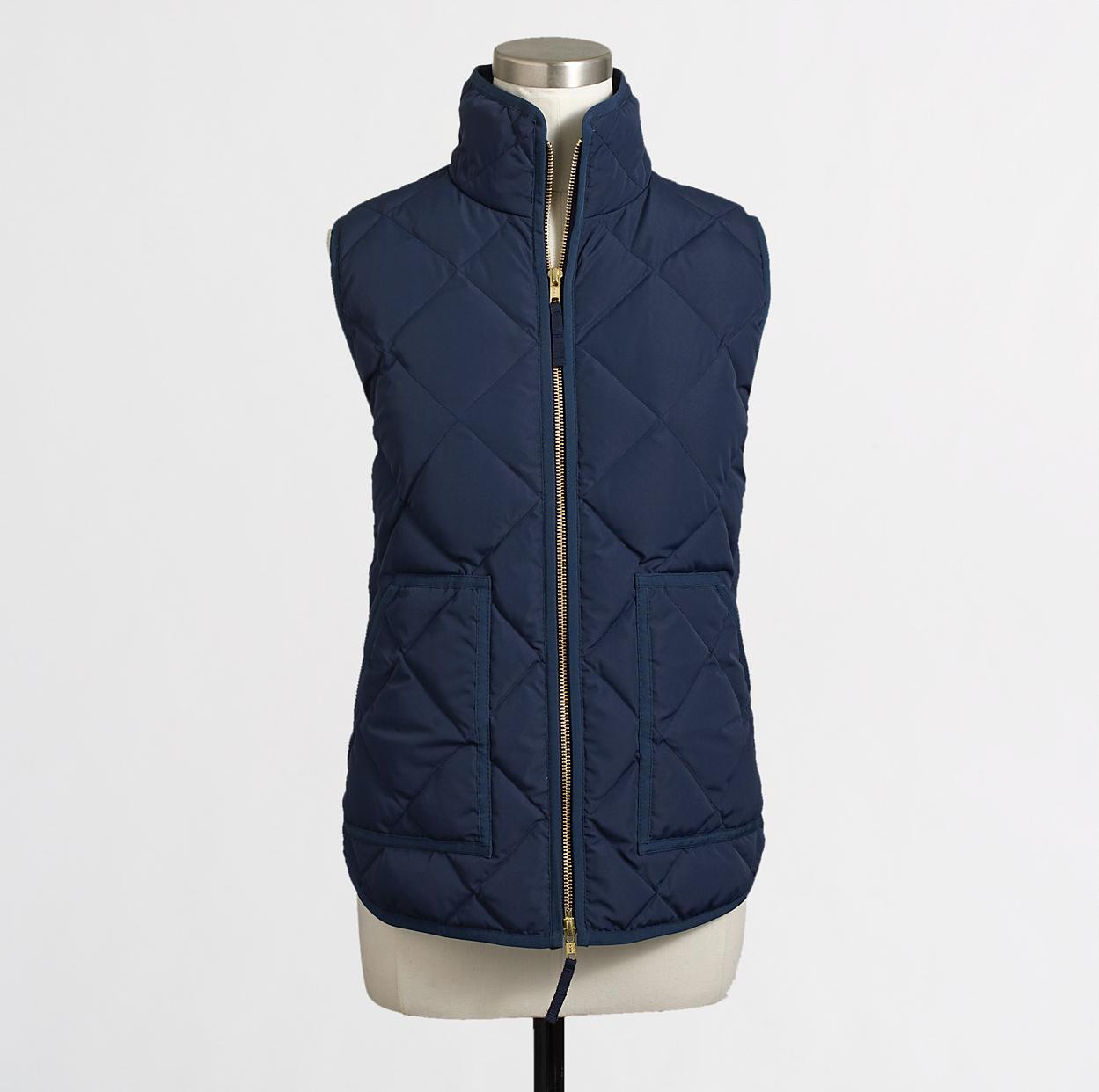 J Crew Aficionada Quilted Puffer Vest Retail Versus
