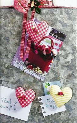 ímã de corações - patchwork