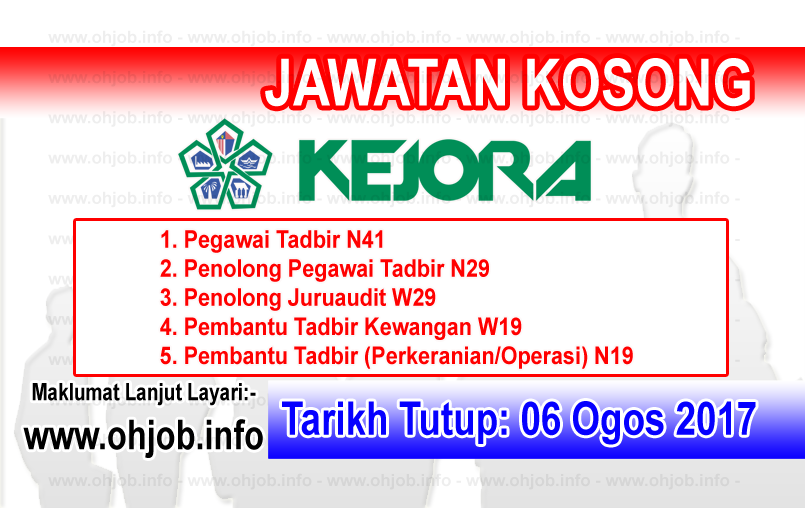 Jawatan Kerja Kosong Lembaga Kemajuan Johor Tenggara - KEJORA logo www.ohjob.info ogos 2017