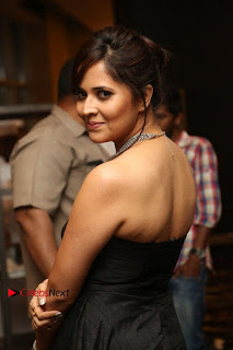 Telugu Anchor Actress Anasuya Bharadwa Stills in Strap Less Black Long Dress at Winner Pre Release Function  0031.jpg