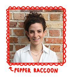 Pepper Raccoon portrait