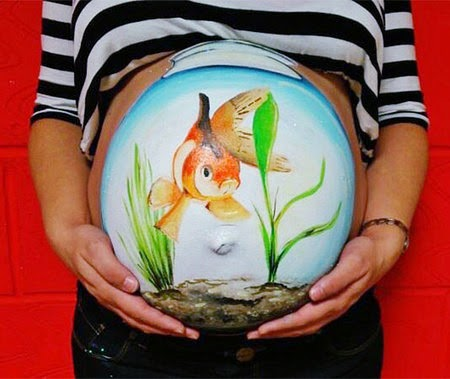 baby bumps as a canvas to paint