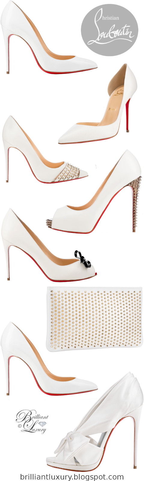 Brilliant Luxury ♦ Christian Louboutin ~ White Edition