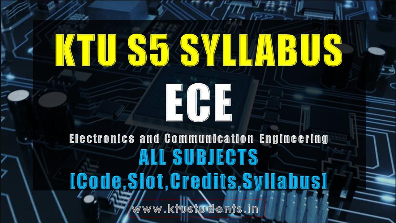S5 Syllabus Electronics and Communication Engineering [ECE
