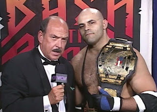 WCW REVIEW - BASH AT THE BEACH 1996 - Konnan speaks to Mean Gene about his US Title Defence Against Ric Flair