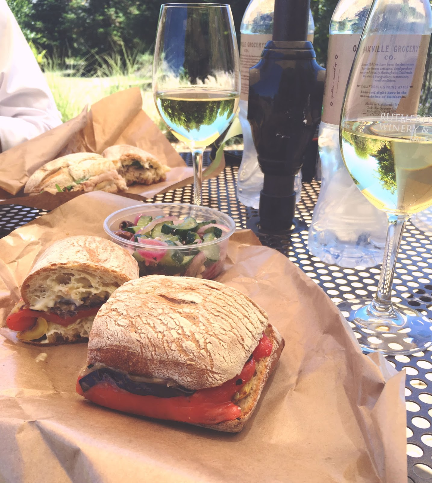 food and wine at Rutherford Grove Winery in Napa, California