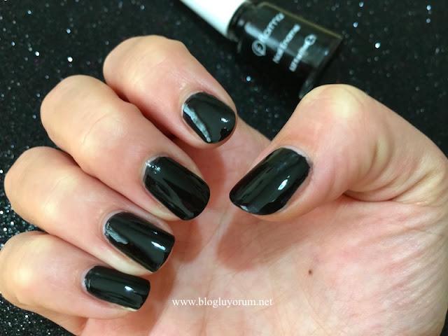 flormar nail enamel 313 black minimalism siyah oje