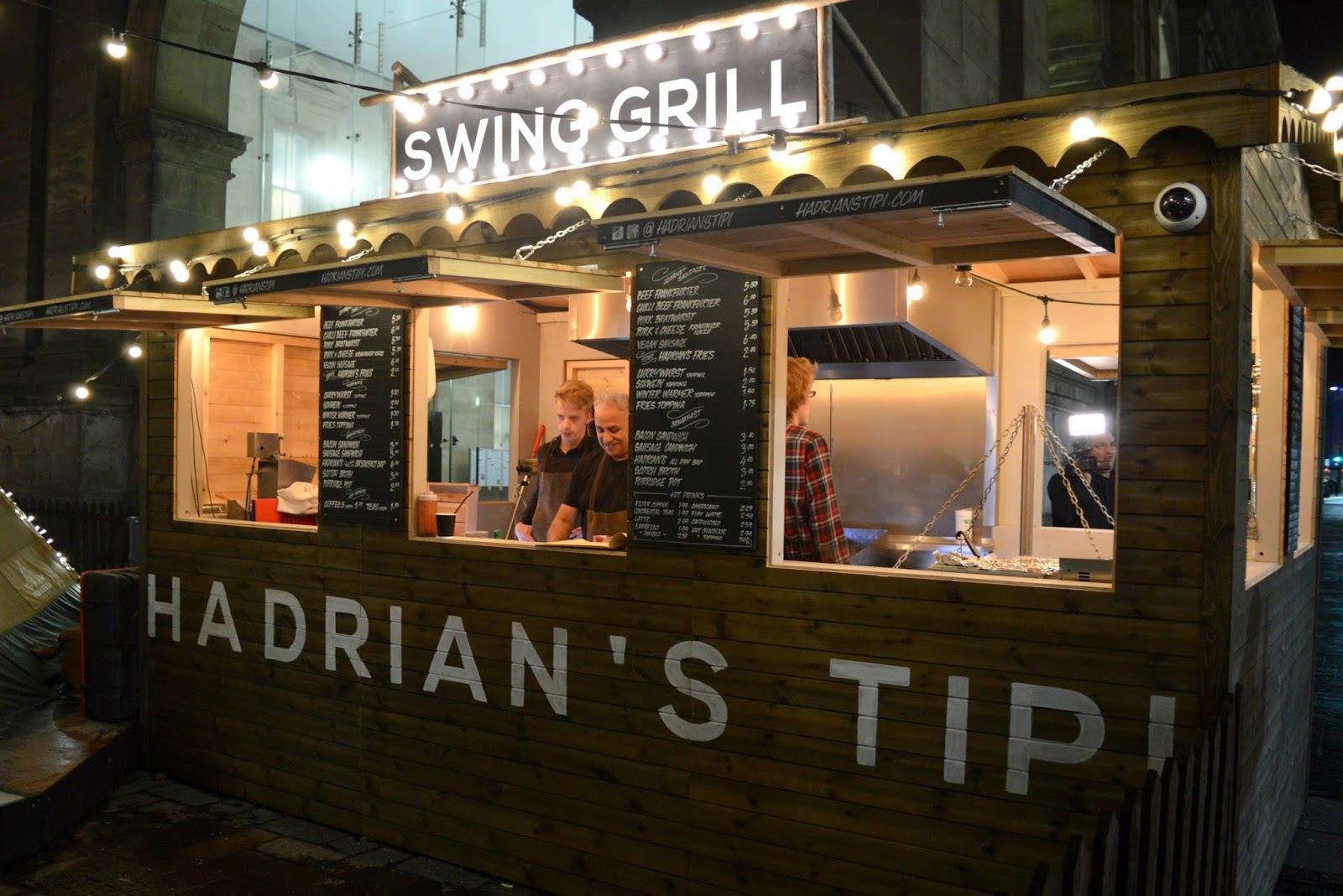 Hadrian's Tipi Central Station Newcastle Food