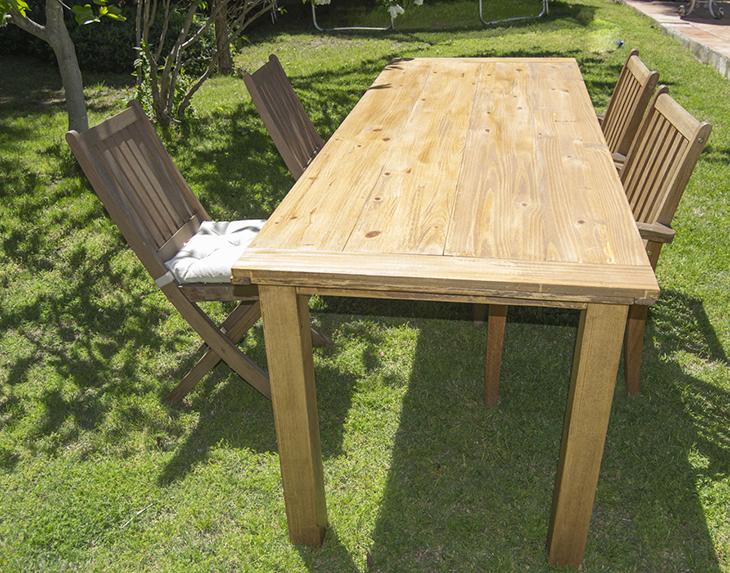 Oro y Menta: Como hacer una mesa de comedor de exterior DIY