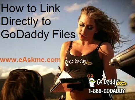 How to Link Directly to Go Daddy Files : eAskme