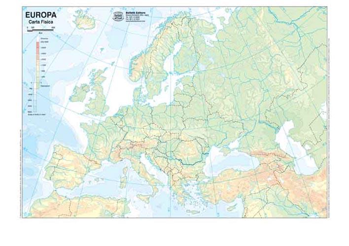 Europa Cartina Muta Fisica Pieterduisenberg
