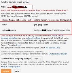 Cara mengganti dan memasang domain di blog