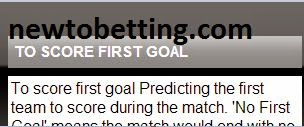 to score first goal betting type