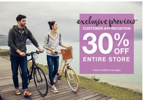 Roots 30% Off Customer Appreciation Exclusive Preview Promo Code
