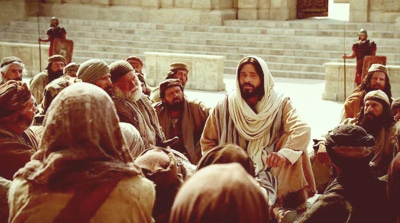 Jesus ensina no templo para o povo de Jerusalém