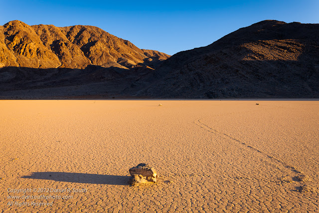 a photo of a sliding rock at the racetrack in death valley