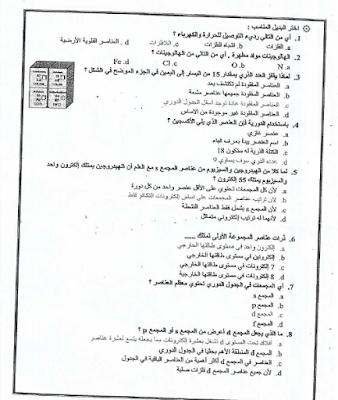 الصف العاشر المتقدم ملخص الكيمياء الفصل الأول 2016-2017