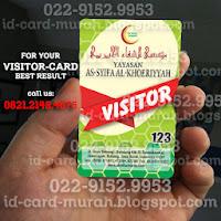buat kartu visitor tamu perusahaan sekolah asy syifa subang idcard murah bandung