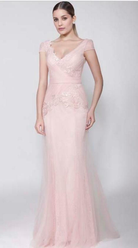 Vestido longo rosa rose
