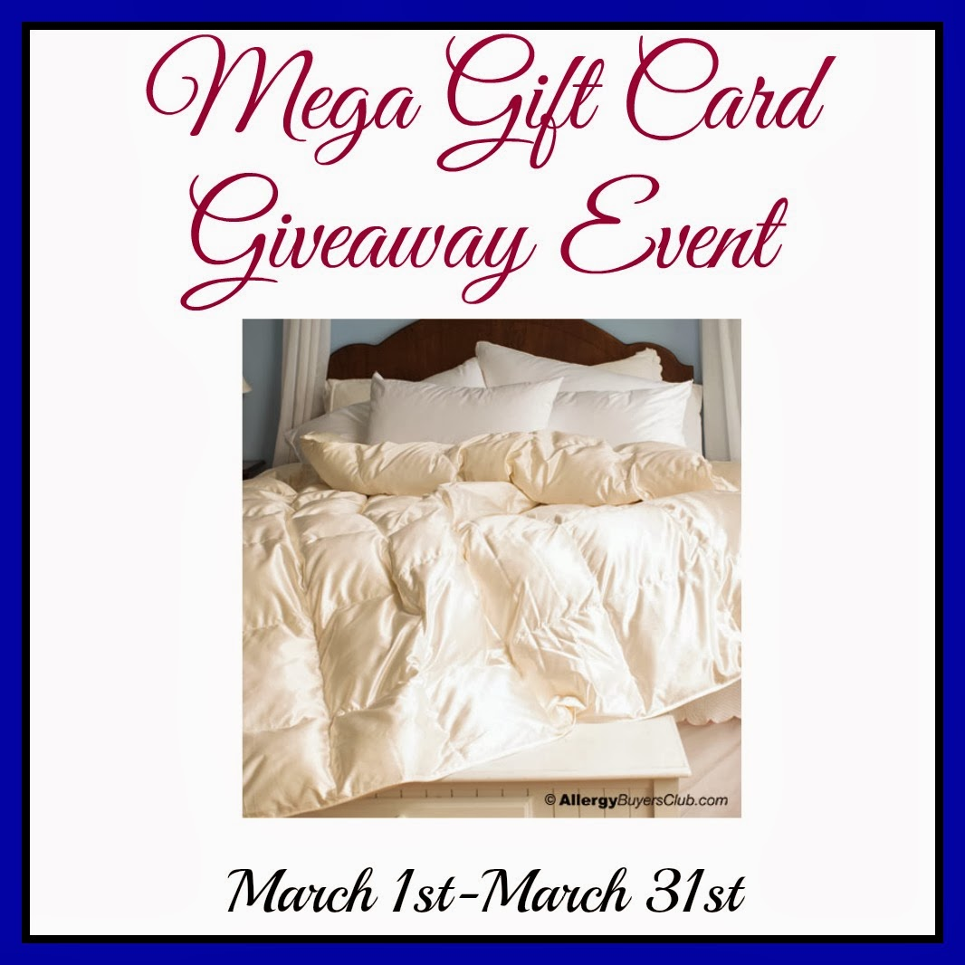 Sign up for the Mega Gift Card Giveaway Event. Starts 3/1.