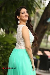Actress Anchor Manjusha Stills in Long Dress at Srirastu Subhamastu Success Meet  0031.JPG