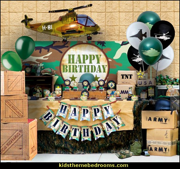 ARMY PARTY DECORATIONS ARMY SUPPLIES  army party decorations - Camouflage Party Supplies - army party ideas - Military party ideas for a boy birthday party - Army & Camouflage decorations - army party decoration ideas - army themed party - army costumes - Army Camo Party Supplies -