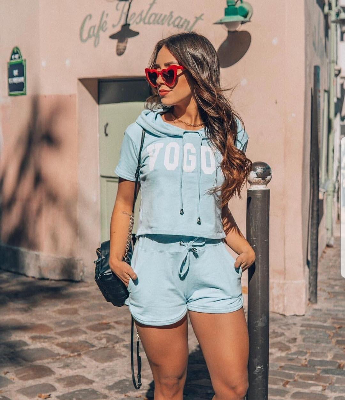 7d87cde6d93e0 Conjunto Vogue Azul   Petit Rosè  Você merece um look desse, garanta ...