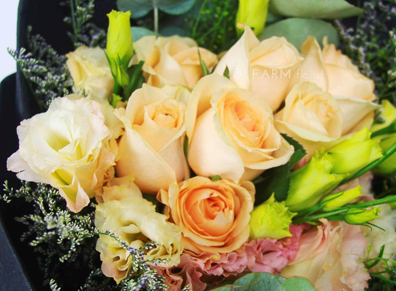 samantha close up bouquet by farm florist singapore