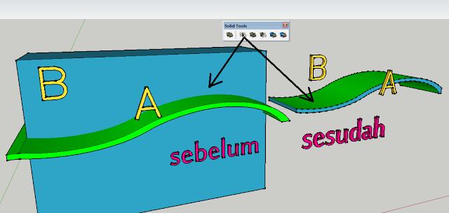 cara menggunakan Solid Tools Sketchup,Plugin Solid Tools