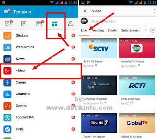 tips melihat channel tv di android bbm