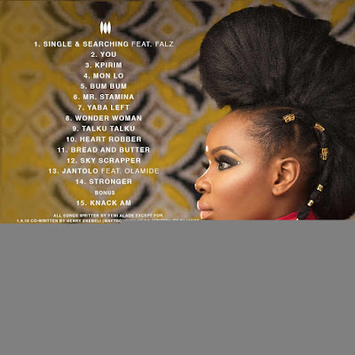 "Yemi Alade Black Magic Album Art Back - ENTERTAINMENT: Yemi Alade releases Cover Art & Tracklist for Forthcoming Album ""Black Magic"""