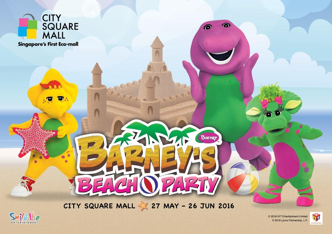 City Square Mall Barneys Beach Party We Are The Dinofamily