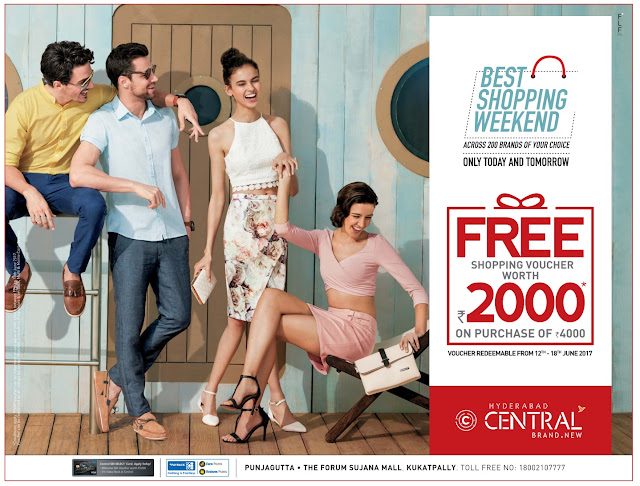 Free shopping voucher worth Rs 2000 in Central| June 2017 Discount Offers