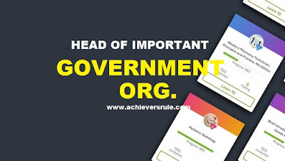 List of Important Organisations and their Heads