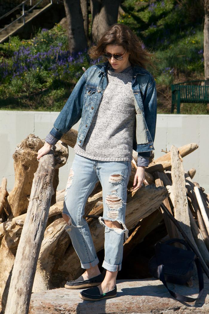 Vancouver Fashion Blogger, Alison Hutchinson, in Sanuk Shoes