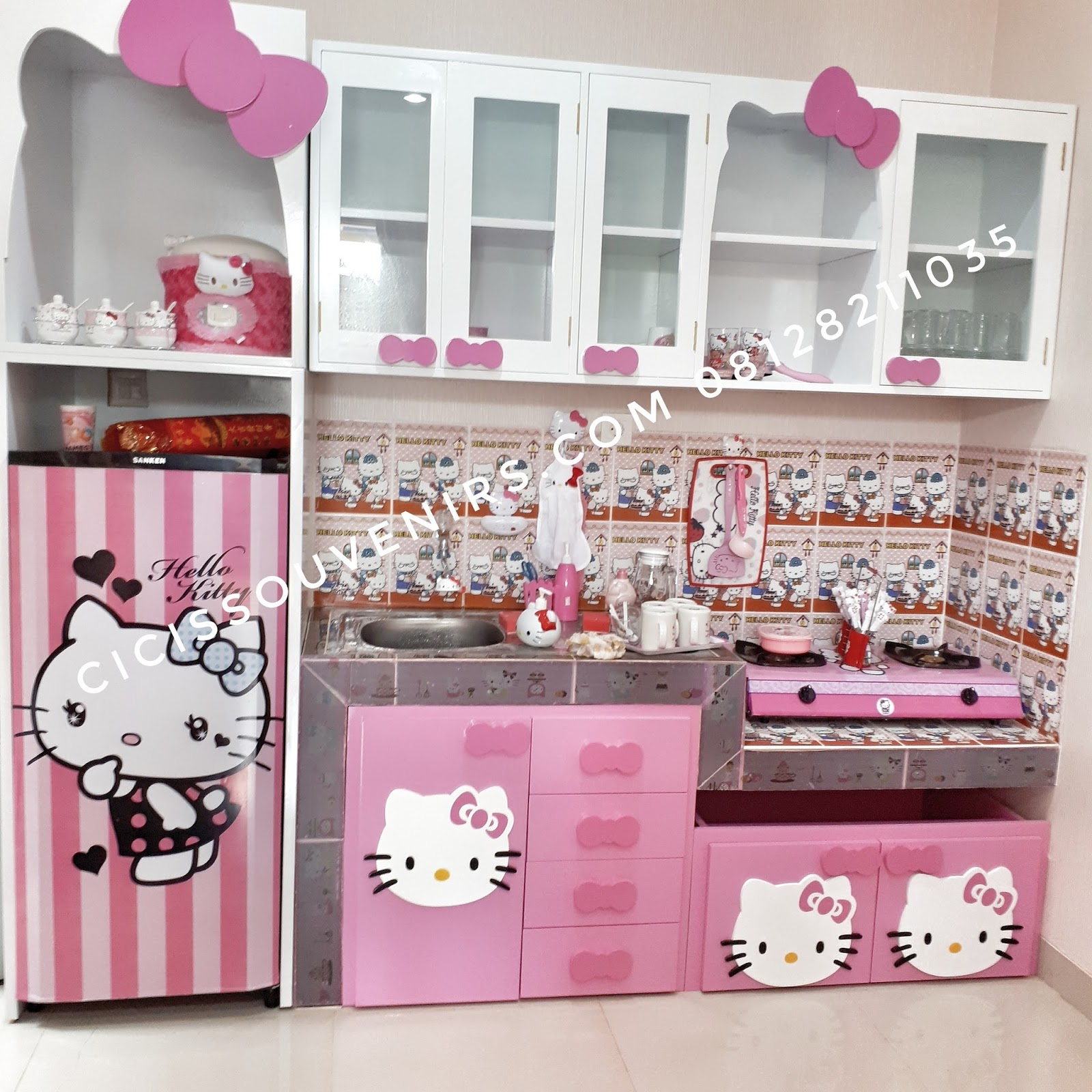 Hello Kitty Wooden Kitchen Set: Www.cicissouvenirs.com: Kitchen Set, Meja Makan, Kursi