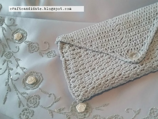 Virkattu iltalaukku - Crocheted evening bag