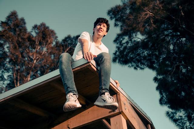 chłopak na dachu