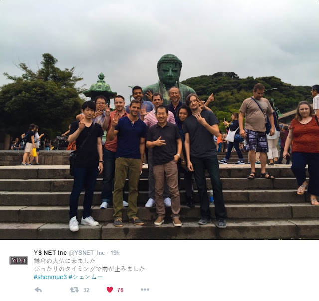 Yu Suzuki and backers in Kamakura